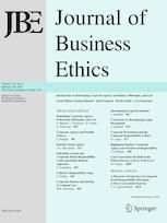 New Publication in the Journal of Business Ethics